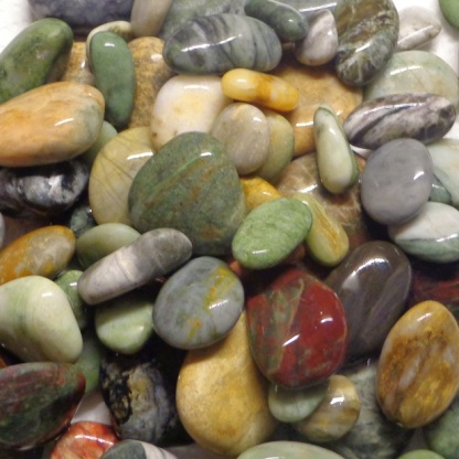 Drying before being examined individually to decide what happens next to each stone