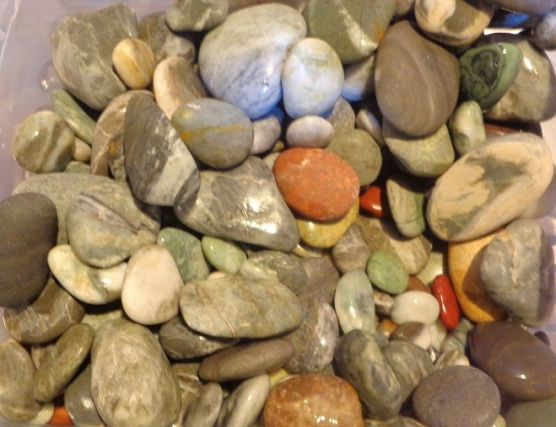 Some of the stones I collected.