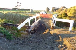 We crossed this bridge to get to the beach - it had been undermined by a recent flood