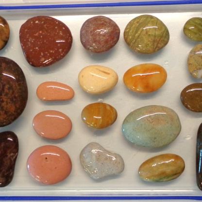 The same stones, wet