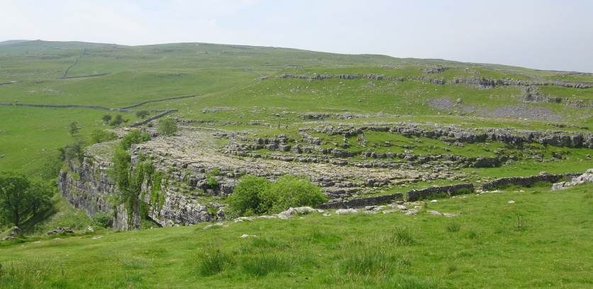 Approaching the top of Malham Cove