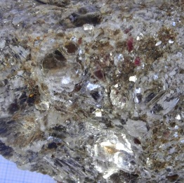 Another detail of Joyce Bay mica rock