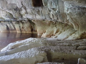 Moria Gate limestone, in the cave
