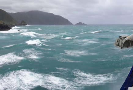 Leaving the South Island on a Cook Strait ferry