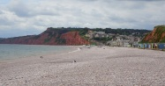 Looking south-west towards the village of Budleigh Salterton
