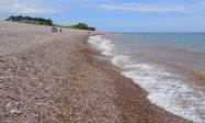 Looking north-east along the beach at Budleigh Salterton