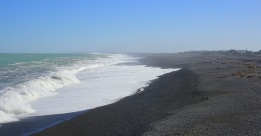 The waves are powerful and unpredictable, especially at the Banks Peninsula end