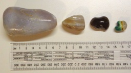 Most of the Agates collected are small, with only the occasional larger one