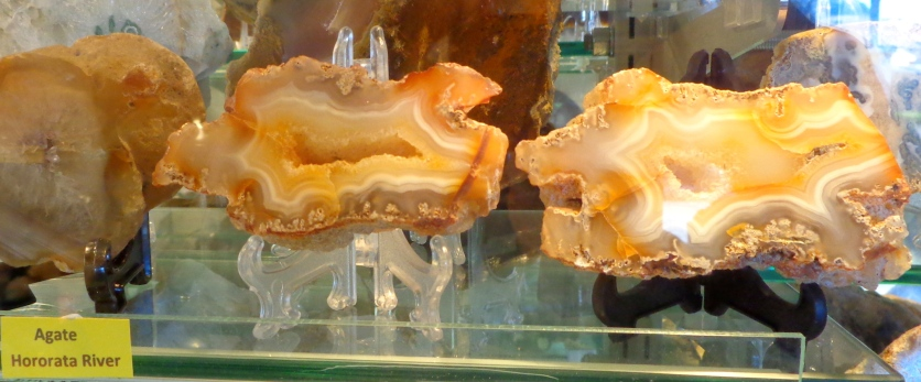 Coloured Agate cross-sections, Birdlings Flat Gemstone and Fossil Museum
