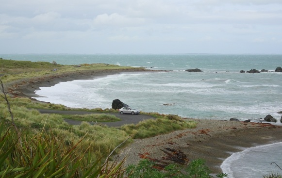 Riverton's Back Beach, on Foveaux Strait‎, a source of many interesting stones for polishing