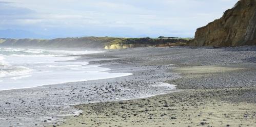 March 2019 - a stony beach.