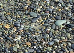 .A drift of stones.