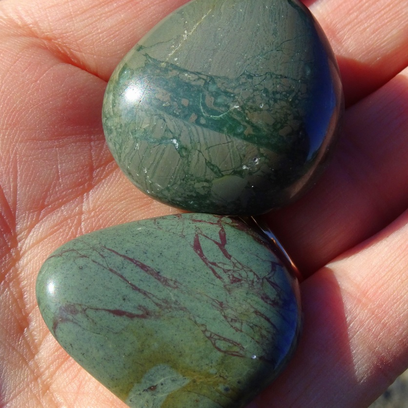 Two polished stones.
