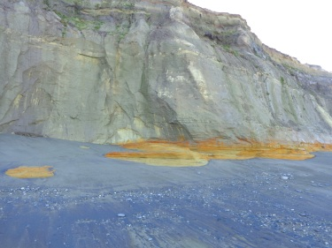 April 2016 - Few stones in the area near the cliff.
