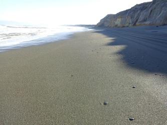 April 2016 - a sandy beach.