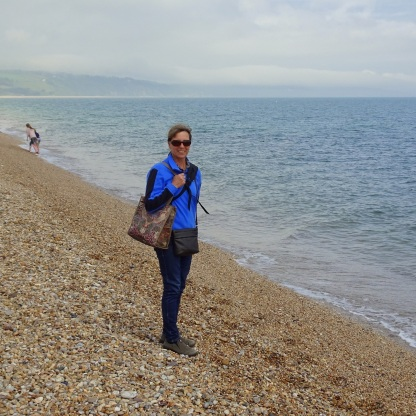 Petra on Slapton Sands, a pebble beach, in 2017