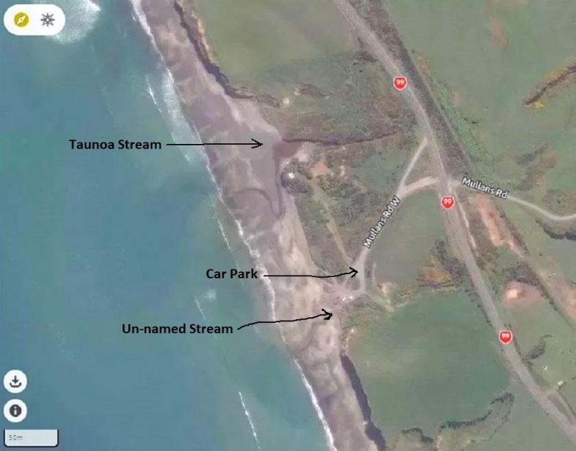 Gemstone Beach entrance mapcarta