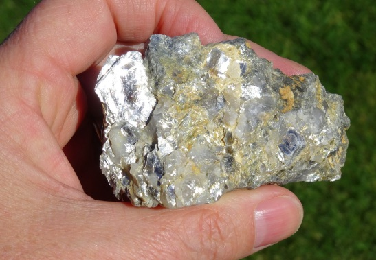 """Stone 2 """"Positioned Sparkle"""", full of quartz and large mica crystals"""