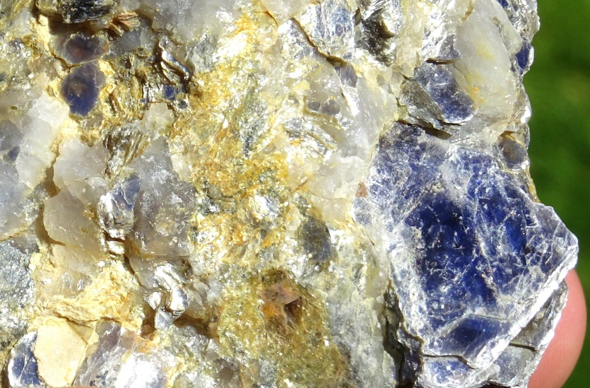 Detail of some of Stone 2's large mica crystals
