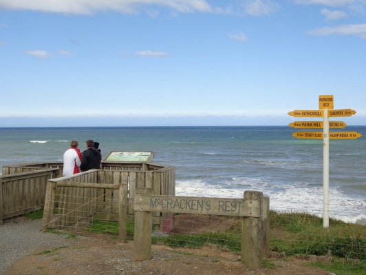 The viewpoint at McCracken's Rest - the best entry point to the beach, though unofficial