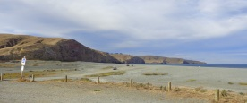 From the car park at Birdlings Flat