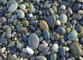 Stones on the beach near McCracken's Rest