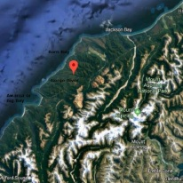West Coast area between Haast and Milford Sound. Source: Google Maps