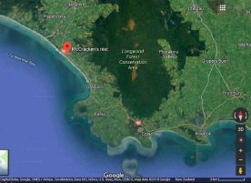 McCracken's Rest in relation to Riverton, 36 kms away. Source: Google Maps