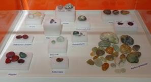 Riverton Museum, children's rock collection display