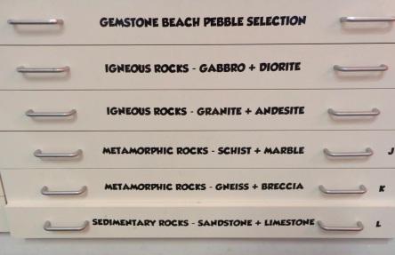 Riverton Museum, drawers of rock samples