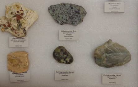 In one of the drawers in the rock display room, Riverton Museum