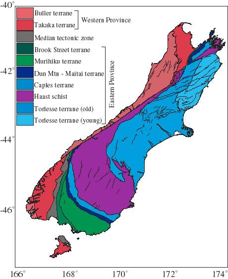 Terranes of the South Island. Source: http://cires1.colorado.edu/people/jones.craig/NewZealand/NewZealandFigs.html