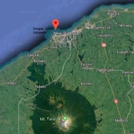 Location of Sugar Loaf Islands, North Island, New Zealand. Source: Google Maps.