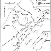 Map showing distribution of corundum—Cr-silicate (goodletite) boulder finds in north Westland. Source: https://watermark.silverchair.com/37-2-293.pdf?token=AQECAHi208BE49Ooan9kkhW_Ercy7Dm3ZL_9Cf3qfKAc485ysgAAAk4wggJKBgkqhkiG9w0BBwagggI7MIICNwIBADCCAjAGCSqGSIb3DQEHATAeBglghkgBZQMEAS4wEQQMA6zlWukJNZxcWPYRAgEQgIICAXni29ROUA1IrgXOvyrZerH5-EBK4Kw6Qp3RNY0Jb5kn5Mjt2BBrAyyhIgvYCzZip_0FowdTKGkulicPUe7WEcYXxGlw77RBfsHx_xk3FpPq_15PrjCBYz1b_l2VWl5QdixLoSNDsgcTsfpKu8OAC_1xnRbm1KgWwwNJH3lDcRj2ugr1dUKZytMs7fw6D7fy_nPvfXqDFE-Ht_4FNwu_PqZaIHHrHw-RGLSpvWiXy-FccF8u_zqpn6siYzPX-g9mYxLUVQFmA0ZBjPoXU5J1ZPveUCGodJwPOV0BZscRMIji7lWixYu7h5Pl2DYulpJIyR4S6Chk9GN7eMr6AcW_YdMuq2odhkH2yMKxlf-9yKVxMb8rQ9mBxO5QwHOpuI9Vy_OSs95WBsDGoH3mb4NgVvWu8MwckNhMCD5X4soZIFzGsH631grGJpZKhO_DrzoShh3edZdc3QdPwd0DglzwHQFRSDsKAMbv2VRTt3aQwinAvZOWPPp1057FGVb-8OJxsFBlOZk3A-12Op6iIuY0C3VVn_PZPdnatXXZQXDtpIw2Qvbjf3i1KIU-cA3__rY3qANJ6gr8fOrGKgkgl3QoS4CDjWIh81X7DVQ3GDXW0AxGUNaWwmQKNrBYRRN2WBA-902KABRY2MXtlyoDQaarvZRuzM8v2XHdmUXlv3e5FnI8LA