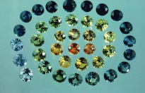 """Colour range of Australian Sapphires. Source: Page 105 of Lin Sutherland, 1991, """"Gemstones of the Southern Continents"""""""