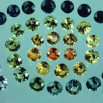 "Colour range of Australian Sapphires. Source: Page 105 of Lin Sutherland, 1991, ""Gemstones of the Southern Continents"""