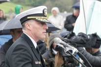 US Defense Attache speaking at 75th Anniversary of Exercise Tiger, Slapton Sands. Source: https://www.flickr.com/photos/usembassylondon/sets/72157691173021783/with/33854181968
