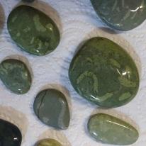 Fossil worm cast stones found on Gemstone Beach, May 2019