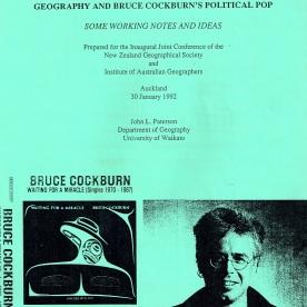 Conference Paper on Bruce Cockburn