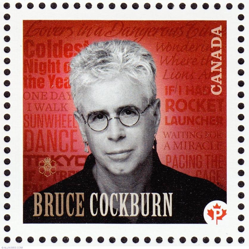 2011 Bruce Cockburn stamp. Source: https://www.allnumis.com/stamps-catalog/canada/art/p-bruce-cockburn-2011-4800
