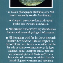 A Photographic Guide to Fossils of New Zealand, back cover