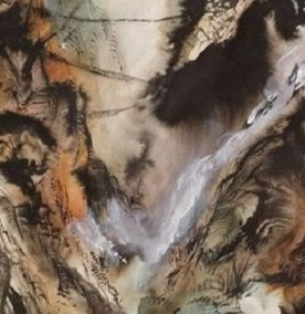 Japanese Watercolour Landscape, detail. Source: https://www.etsy.com/in-en/listing/606587096/the-three-bridges-antique-scroll?ref=landingpage_similar_listing_top-1