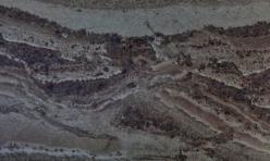 Detail of large banded argillite stone, Gemstone Beach