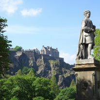 Edinburgh Castle from downtown.
