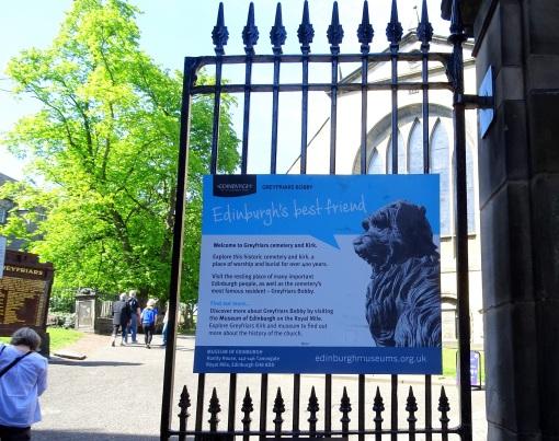 The entrance to Greyfriars Churchyard