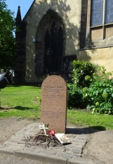 In front of the Greyfriars Church is a memorial stone to Bobby.