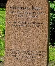Memorial stone to Greyfriars Bobby