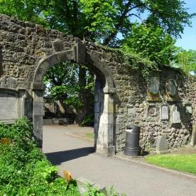 Flodden Wall in Greyfriars Churchyard.