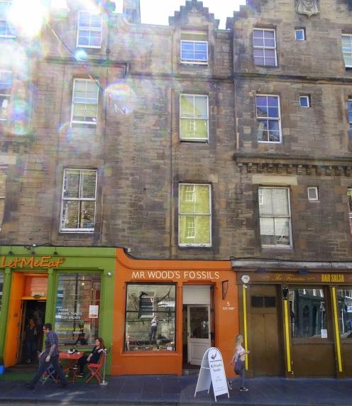 Mr Wood's Fossils Shop, Edinburgh.