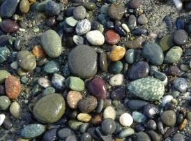 Stones on Gemstone Beach.